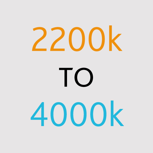 2200k to 4000k