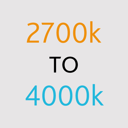 2700k to 4000k